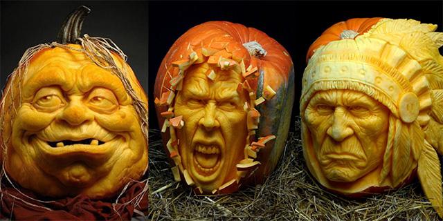 南瓜也疯狂!来看看万圣节千奇百怪的南瓜雕刻大赛