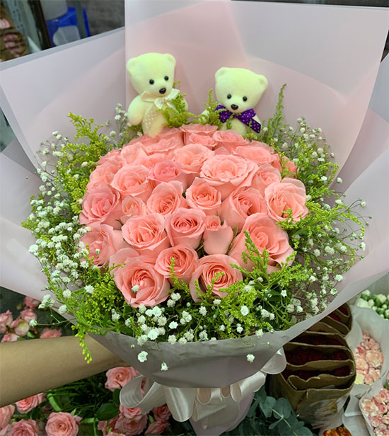 送女朋友33朵玫瑰花祝福语怎么写?