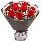 11朵红玫瑰间插满天星复古创意花束