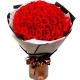 执子之手-66朵精品红玫瑰精美花束