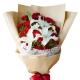 我爱你妈妈 - 19朵红色康乃馨,2枝白色香水百合,搭配黄莺
