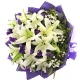 永远开心 - 8支香水白百合友情鲜花