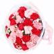 父母恩情-29朵红粉康乃馨搭配相思梅黄莺送长辈花束