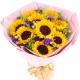 幸福满满-9朵向日葵,搭配黄莺精美花束