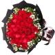 一生所爱-33朵红玫瑰,搭配相思梅点缀爱情鲜花