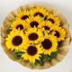 温暖问候-11枝向日葵、点缀黄莺