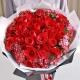 缤纷的爱-33朵红玫瑰,外围石竹梅点缀时尚花束