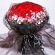 我的挚爱-33枝红玫瑰,搭配相思梅爱情花束