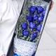 挚爱一生-11朵蓝色妖姬,搭配情人草、尤加利创意花盒