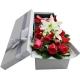 一往情深-11枝红玫瑰+2枝香水百合,搭配相思梅、栀子叶