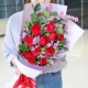 最真的爱-11枝红玫瑰,搭配勿忘我、栀子叶