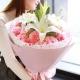 感恩有爱-33枝粉色康乃馨+3枝香水百合教师节母亲节鲜花