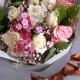 幸福聆听-7朵白玫瑰+2朵戴安娜混搭花束