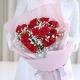 一生相恋-11朵红玫瑰,搭配满天星