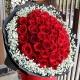 三生相伴-33枝红玫瑰,外围满天星