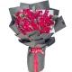 一眼万年-99枝精品红玫瑰,搭配尤加利叶