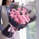 岁月静好-19朵粉色康乃馨,搭配情人草、尤加利