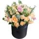 珍惜遇见-33枝香槟玫瑰,搭配白色相思梅、紫色小野菊