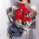 非你莫属-9朵卡罗拉红玫瑰,搭配适量尤加利叶