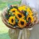 暖暖心意-9朵向日葵,搭配红豆、尤加利叶